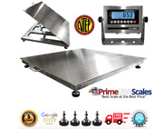 Prime Usa Op-916ss Ntep 48x48 Wash Down Lift-top Floor Scale 5000 Lb Capacity