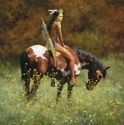 Howard Terpning Color Of Sunandrdquo Signed By Artist