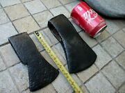 Antique Two Old Rustic Primitive Museum Tools Axe Wrought Steel Blacksmith Made