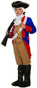 Patriotic Soldier Boys Child Colonial War Halloween Costume