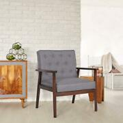 Ubesgoo Mid Century Modern Accent Chairs,wooden Lounge Chair Grey