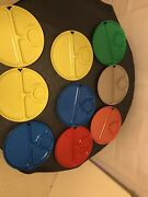 9 Old Vintage Lustro Ware Plastic Divided Picnic Camping Plates Trays 1950s