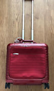Rimowa Salsa Deluxe Hybrid Business Case With Wheels , Rare Red
