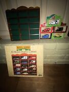 Nos Lledo Andlsquodays Goneandrsquo Corgi Vintage Wooden Display Case 5 Nos Vehicles 13x1x12