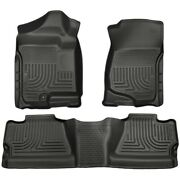 98201 Husky Liners Floor Mats Front New Black For Chevy Chevrolet Silverado 1500