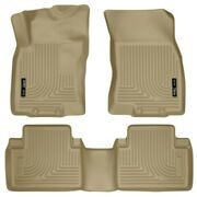 98673 Husky Liners Floor Mats Front New Tan For Nissan Rogue Select 2014