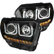 111326 Anzo Headlight Lamp Driver And Passenger Side New Lh Rh For Toyota Tundra