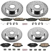 K5584 Powerstop 4-wheel Set Brake Disc And Pad Kits Front And Rear New For Ford