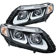 121479 Anzo Headlight Lamp Driver And Passenger Side New Lh Rh For Honda Civic