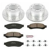 K5578 Powerstop Brake Disc And Pad Kits 2-wheel Set Rear New For F250 Truck F350