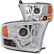 111269 Anzo Headlight Lamp Driver And Passenger Side New For Ram Truck Lh Rh 1500