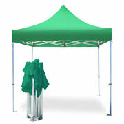 Commercial Pop Up Canopy Tent 10x10 Instant Gazebo Green 5 Height Positions 50mm