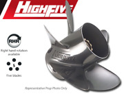 High Five 12-3/4 X 20 Pitch 5-blade Stainless Prop For Mercury Mariner 40-125 Hp