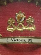 Anddagger Sepcial S. Victoris M Saint Victor Relic Sealed Theca Gold Holder Anddagger