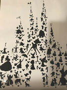 Disney Inspired Character Castle Silhouette Poster