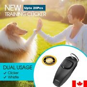 Dog Training Whistle Clicker Combo To Stop Pet Barking Obedience Train Aid Skill