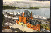 1915 Vancouver Canada Picture Postcard Cover To Broadstaro England Dock View