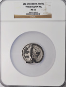 1997 Sts-87 Robbins Silver Space Medal Unflown 92 Ngc Ms65 Columbia