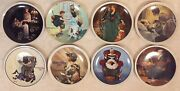 Norman Rockwell Decorative Collector Plates Lot Of 8 Limited Edition