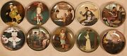 Norman Rockwell Decorative Collector Plates Lot Of 10 Limited Edition