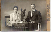 German Shepherd Dog Give Paw To His Master Antique Cab Cabinet Photo Prussia