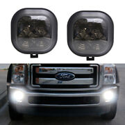 Smoked Lens White 40w Cree Led Fog Light Kit For Ford F-250 F-350 F450 Excursion