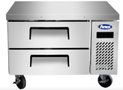 New 36 Chef Base Refrigerated Stainless Steel Cooler Nsf Atosa Mgf8448gr 4668