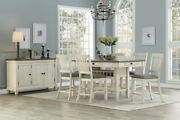 Country Farmhouse Counter Height 4 Drawer Storage Antique White Dining Furniture