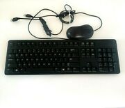 Lot Of Genuine Dell, Logitech, Hp Usb Keyboard Mouse Wired Slim Dusted Clean