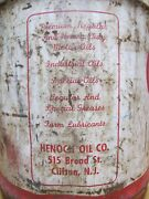 Henoch Oil Co Clifton Nj Old 5 Gal Can Handle Spout Gas Station Repair Shop Htf