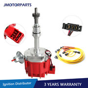 Ignition Distributor And Spark Plug Wire For Ford 351c 351m 400 429 Hei 65000 Volt