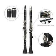New Glarry Bb Professional Clarinet W/ Case Manual And Accessories