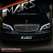 3d Led Stripe Drl Projector Head Lights For Mercedes-benz S-class W220 1998-2005