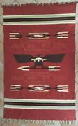 Old Large Chimayo Blanket/rug 90 Inches - Rio Grande - Native American
