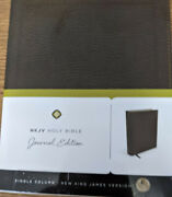 Thomas Nelson Nkjv Holy Bible Journal Edition Brown Bonded Leather Single Column
