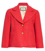 Retro Tweed Bright Pink Jacket With Two-button Closure Size 38 Us 4