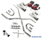 Universal Ss2.5exhaust System Builder X-pipetubing W/2electric Cutout Valve Kit