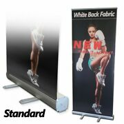 6 Pcs,48 X 80,retractable Roll Up Banner Stand Trade Show Pop Up Display Stand