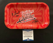 Cheech And Chong Signed Large Rolling Tray Autograph Beckett Bas Coa 6