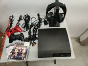 Sony Playstation 3 Ps3 Slim Bundle 2 Controllers 3 Games Sony Wireless Headset