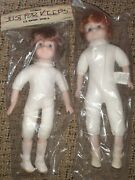 New Set Of 2 Just For Keeps Classic Dolls 13 And 15 Porcelain Face Hands And Feet