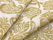 Rosa Bernal Collection Floral Print Fabric- Orleans Ii Goldenrod Remnant 21x90