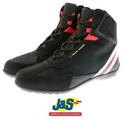 Frank Thomas Viper Ce Short Motorcycle Boots Trainers Shoes Summer Black Red Jands