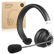 Trucker Wireless Headset With Mic Bt 5.0 For Cellphone Call Center Pc Skype Home