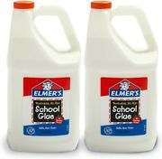 Elmers Liquid School Glue Washable 1 Gallon 2 Count - Great For Making Slime