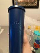 Rare New Starbucks Matte Blue Stainless Steel Cold Cup Tumbler 24 Oz Htf