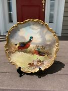 Lazeyras Rosenfeld And Lehman 1920and039s Limoges Hand Painted Charger Signed Dubois