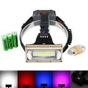 3000lm Headlight Red/blue/white Cob Led Light Head Torch Usb Rechargeable