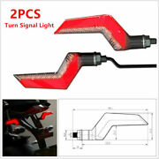 12v Motorcycle Led Red Drl Yellow Turn Signal Light Warning Light Flowing Lamp