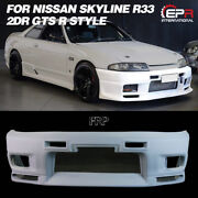 For Nissan Skyline R33 Gts 2door Frp Unpainted R-style Front Bumper Body Kits
